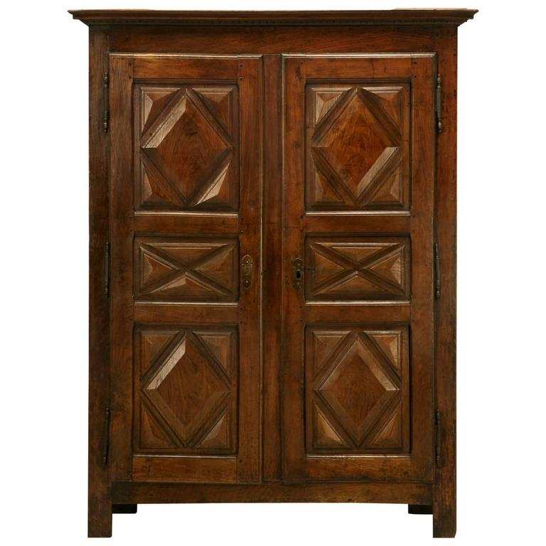 Antique French Louis XIII Style Armoire From The 1700s For Sale