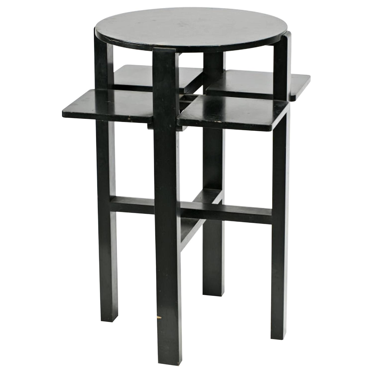 charles rennie mackintosh domino side table for sale at 1stdibs. Black Bedroom Furniture Sets. Home Design Ideas