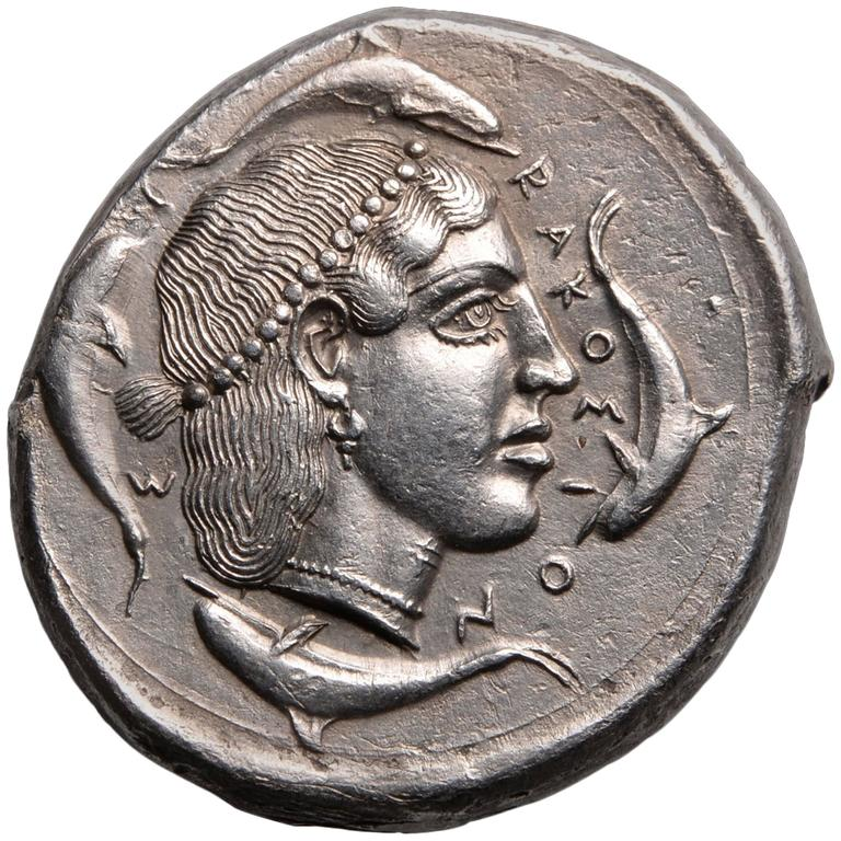 Ancient Greek Silver Tetradrachm Coin from Syracuse Sicily ...