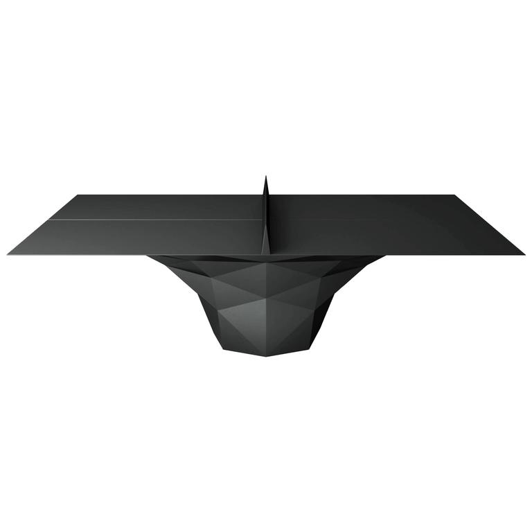 """Deceptor"" Ping Pong Table Tennis Powder-Coated in Black"