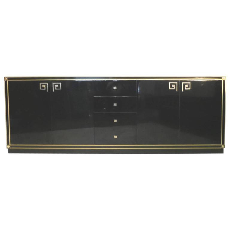 Maison Jansen Mid-Century Modern Sideboard black Lacqua