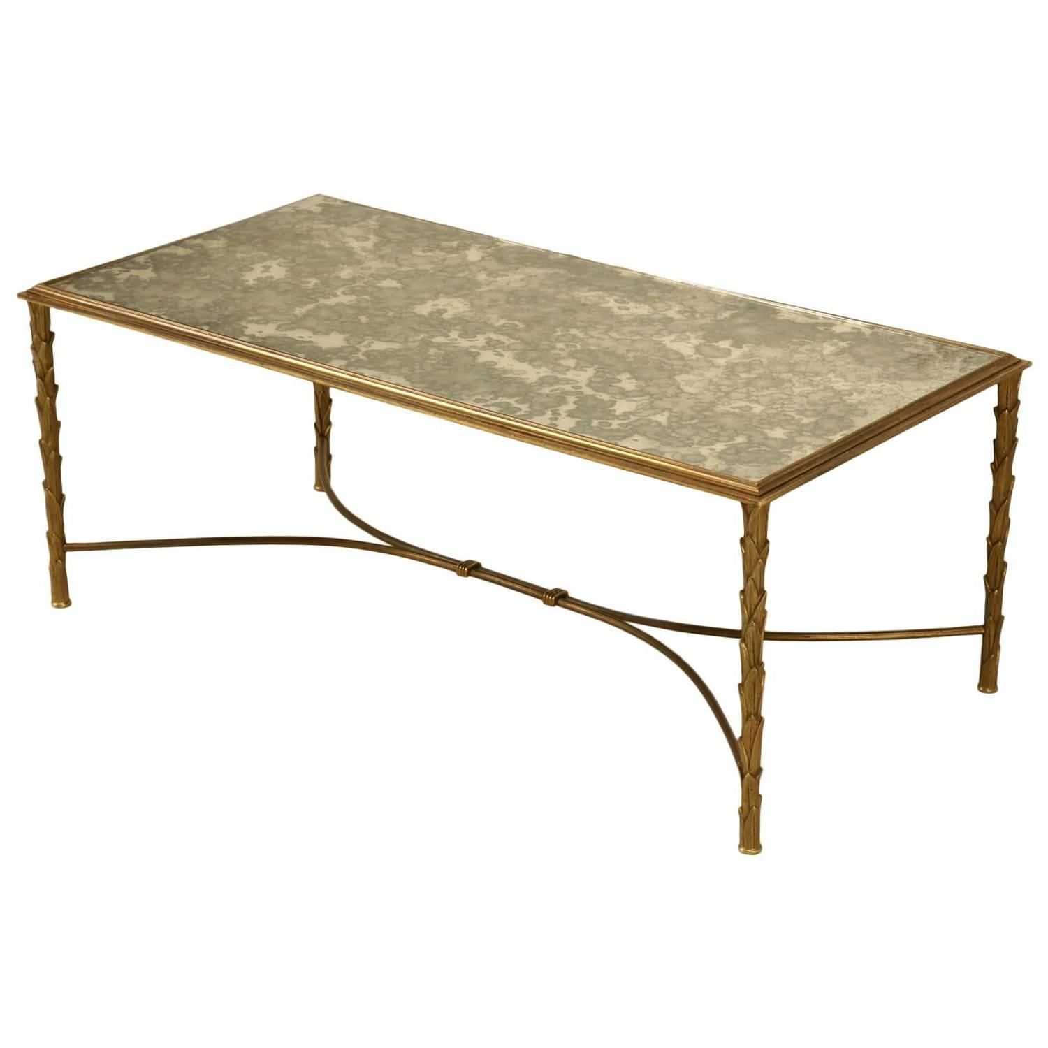 Bronze coffee table attributed to masion bagues at 1stdibs Bronze coffee tables