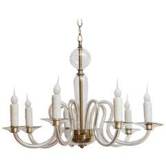 Vintage Venetian Glass Chandelier