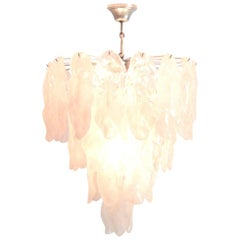 Murano Glass Fiamme Chandelier by Mazzega