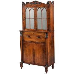 English Regency Period Secrétaire Cabinet with Egyptian Motifs