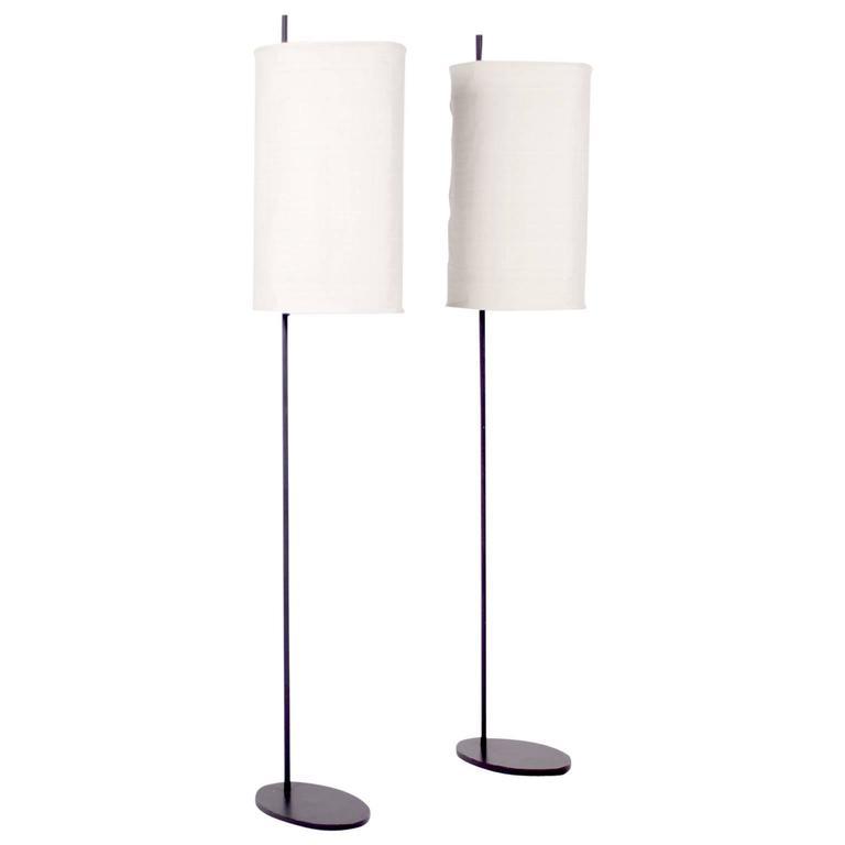 Pair of 'Royal' Floor Lamps by Arne Jacobsen