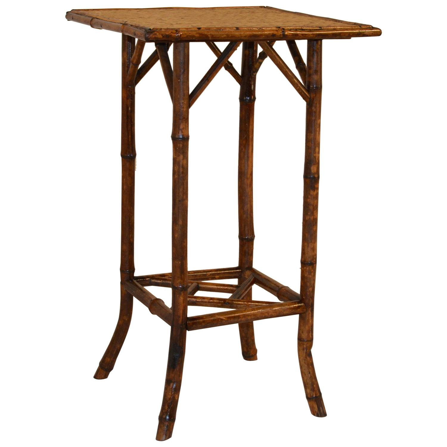 Late 19th century french tortoise bamboo side table for for Bamboo side table