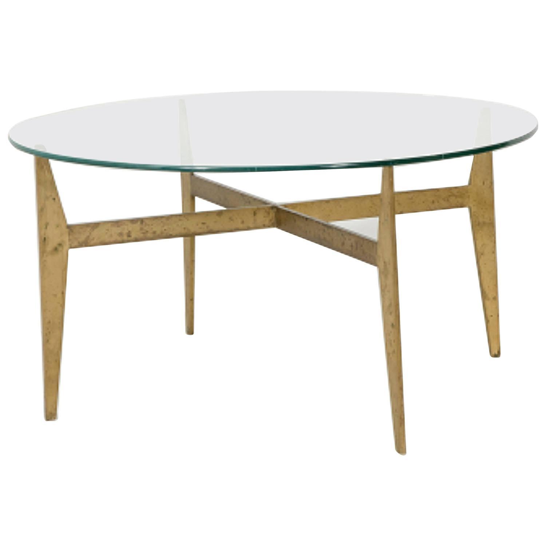 Square Steel Coffee Table Italian C 1970: Gio Ponti Coffee Table, Production Fontana Arte, Circa