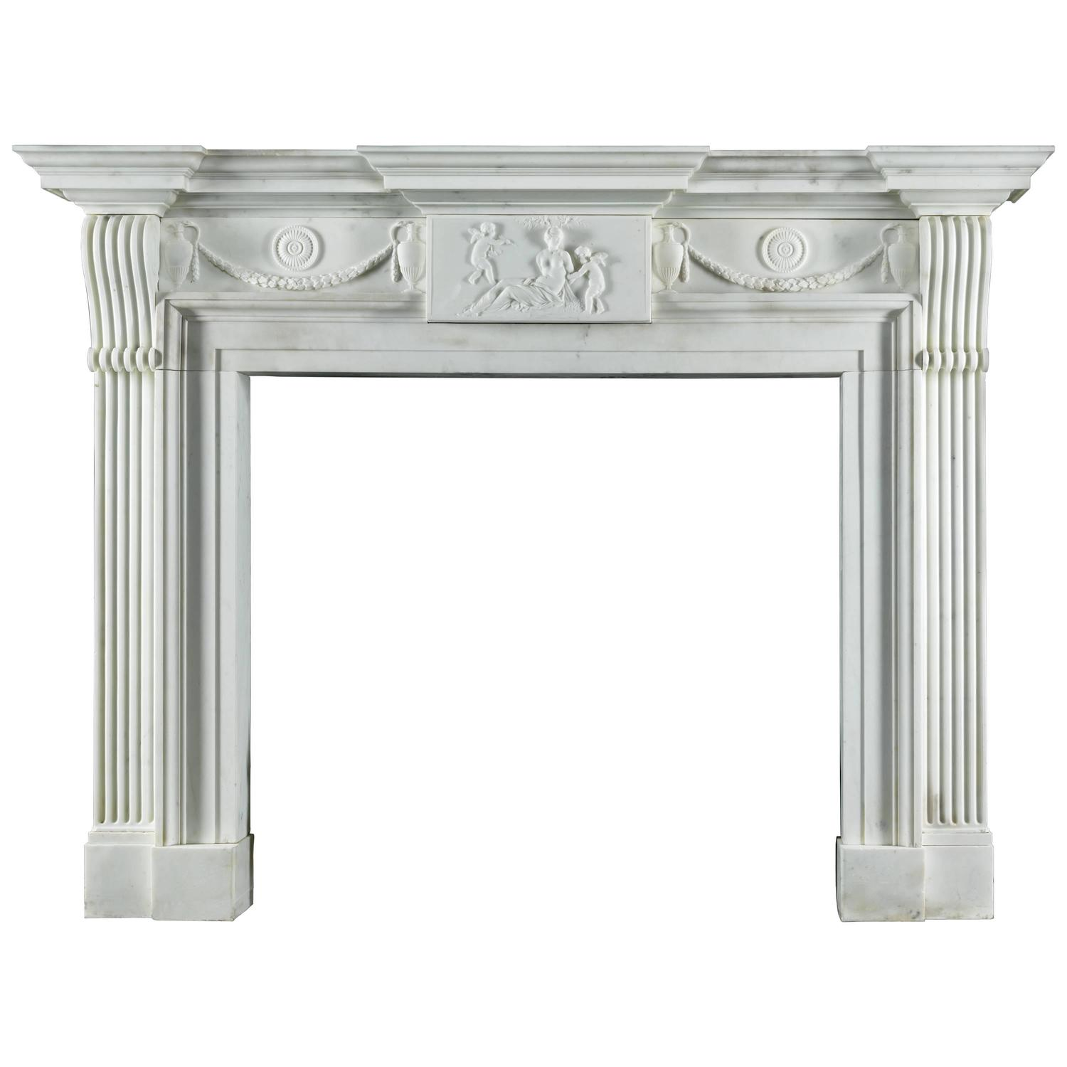very fine late georgian antique fireplace mantel carved in