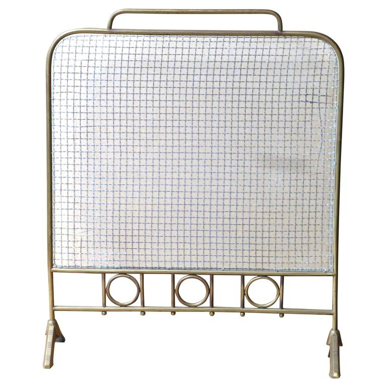 this 19th century brass and wire fireplace screen fire screen is no