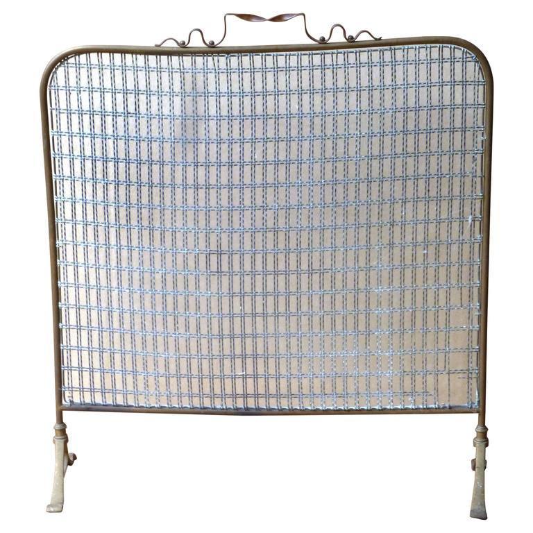 this 19th century brass fireplace screen fire screen is no longer