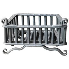 Small 18th Century Wrought Iron Fireplace Grate, Fire Grate