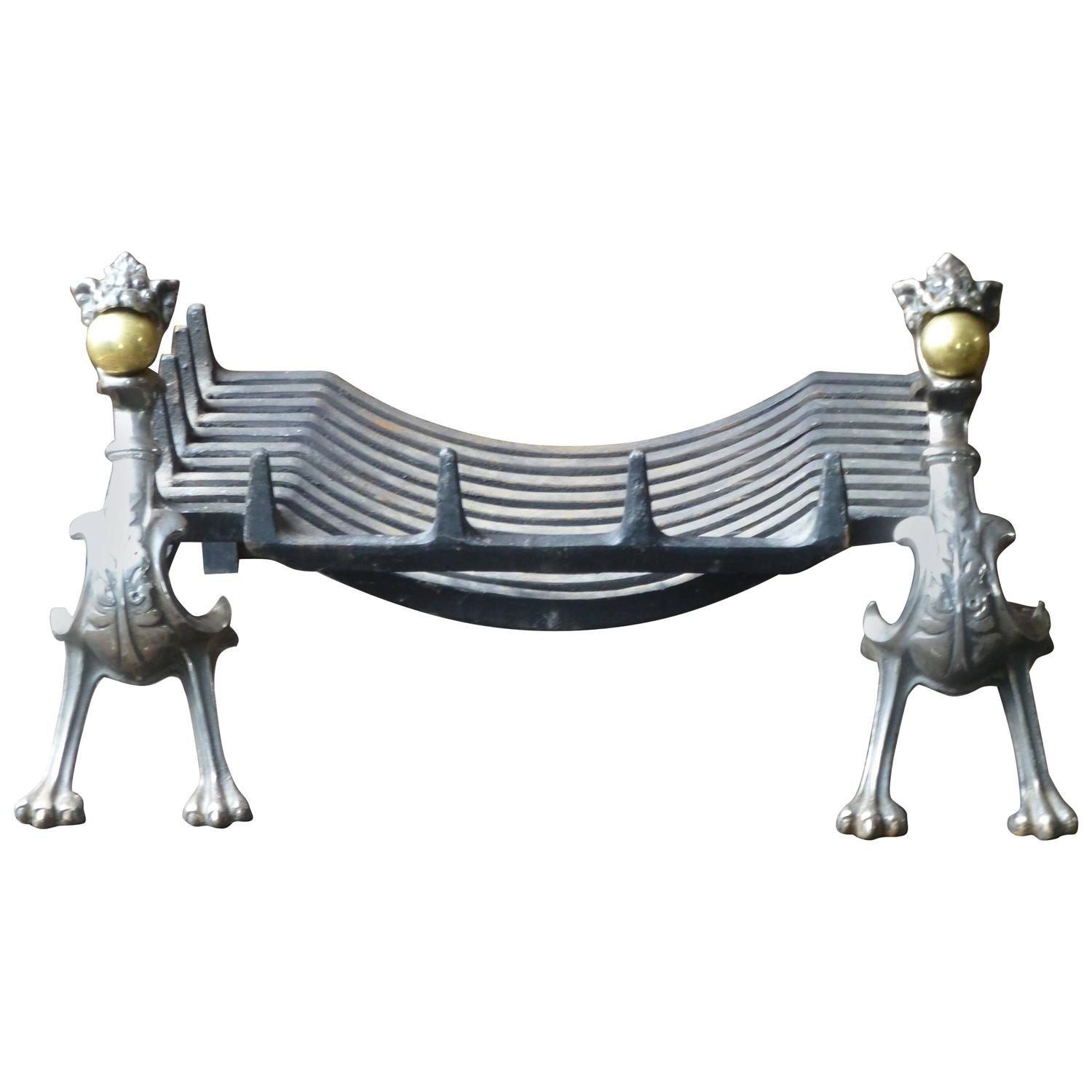 impressive dragon fireplace grate fire grate at 1stdibs