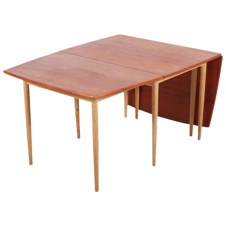 Hans J. Wegner Drop-Leaf Dining Table for Andreas Tuck