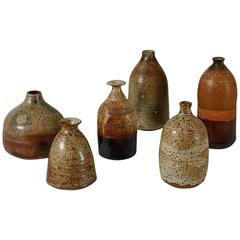 Franco Agnese Collection of Six Ceramic Vases, France, 1960s