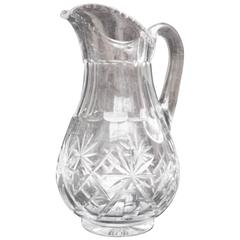 Water Pitcher, Baccarat Crystal, 19th Century, France