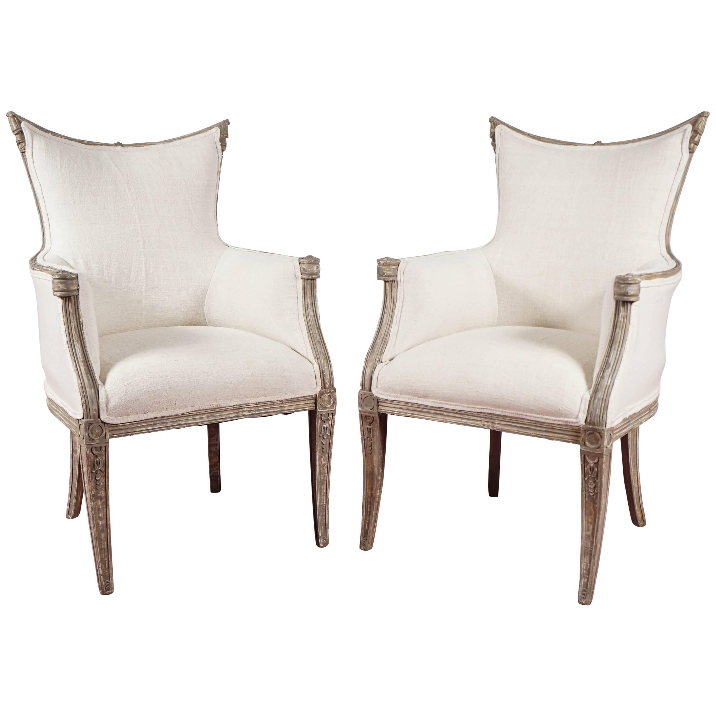 Pair of Regency Inspired Armchairs