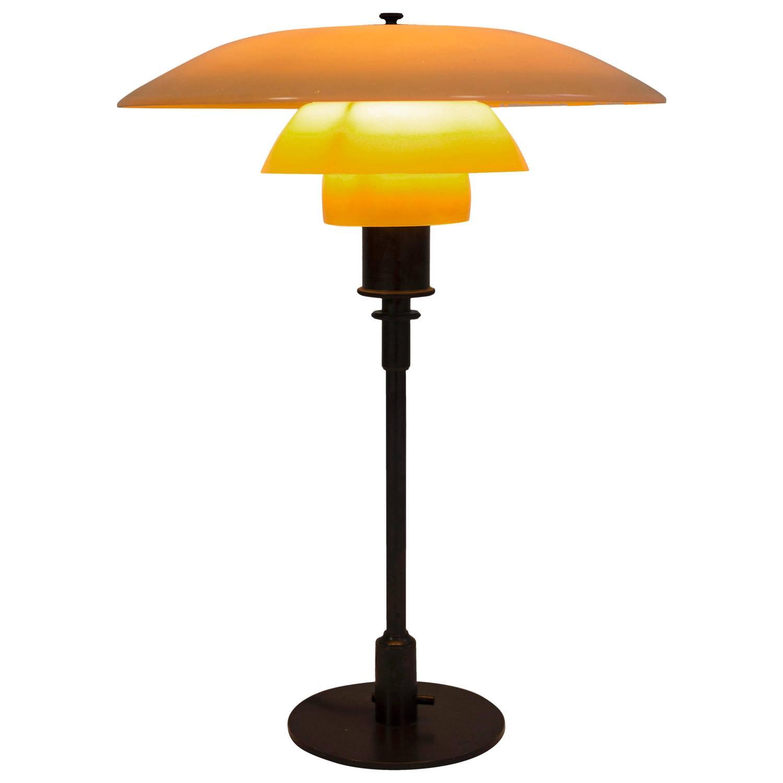 early poul henningsen 4 3 table lamp at 1stdibs. Black Bedroom Furniture Sets. Home Design Ideas