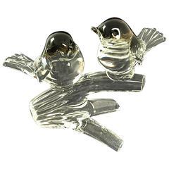 Hand Blown Murano Glass Birds Signed by Markus