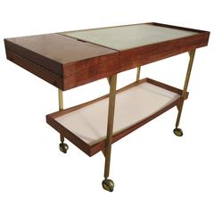 Vintage Hotplate Serving Cart