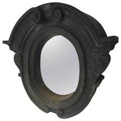 18th Century Zinc Oeil De Boeuf Mirror