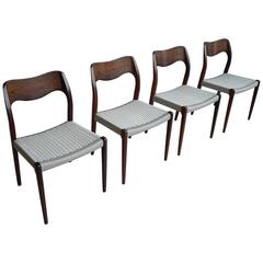 Rosewood Chairs by Niels Otto Moller No 71, Denmark, 1960s
