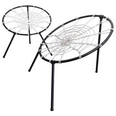 Original, First Edition Spider Web Folding Chairs By U0026quot;PLANu0026quot; ...