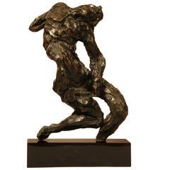 """Bronze Sculpture """"The Damned"""" by the Artist Corneliu Ratcu"""