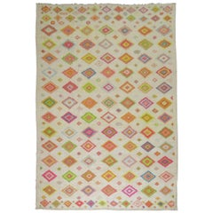 Turkish Tulu Carpet with Bright Colors
