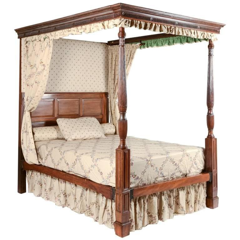 Antique four poster bed circa 1800 at 1stdibs - Four poster bedroom sets for sale ...