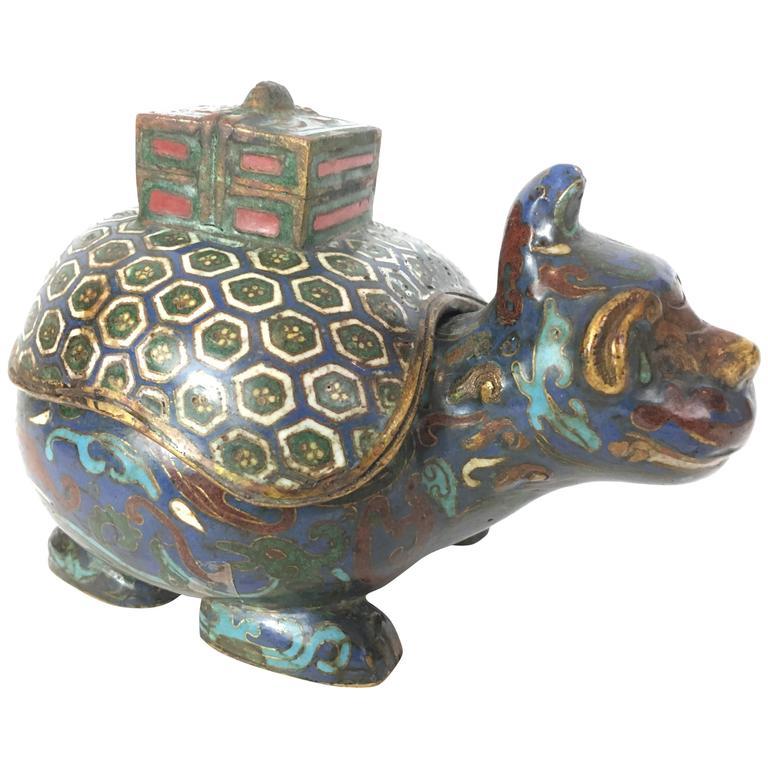 antique chinese cloisonne kylan box at 1stdibs. Black Bedroom Furniture Sets. Home Design Ideas
