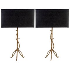Pair of Bronze Table Lamps