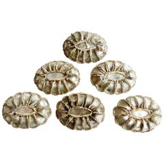 Set of Six Talosel Drawer Pulls by French Artist Line Vautrin