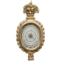 French Louis XVI Giltwood Barometer