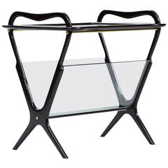 Ico Parisi Attributed Side Table with Magazine Rack