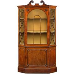George III Mahogany Hexagonal Display Cabinet