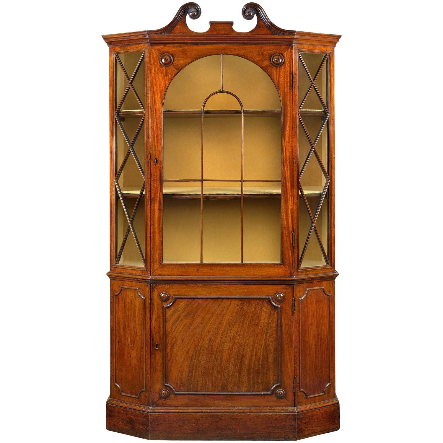 #B74D0D George III Mahogany Hexagonal Display Cabinet For Sale At  with 1500x1500 px of Recommended Mahogany Display Cabinets With Glass Doors 15001500 save image @ avoidforclosure.info