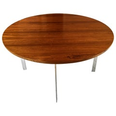 Merrow Associates Rosewood and Chromium-Plated Dining Table