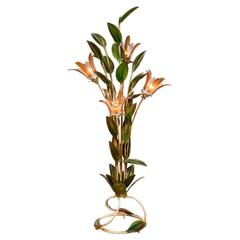 Rare 1950s 'Tropical Lilly' Standard Lamp