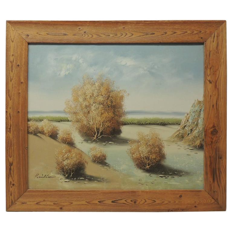 Vintage desert landscape painting at 1stdibs for Repousse amaryllis