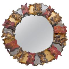 Sculptural Wall Mirror by Silas Seandel