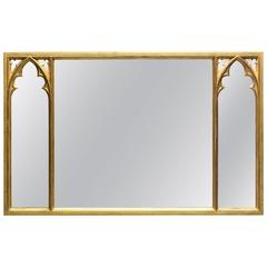 Strawberry Hill Gothic Overmantle Mirror