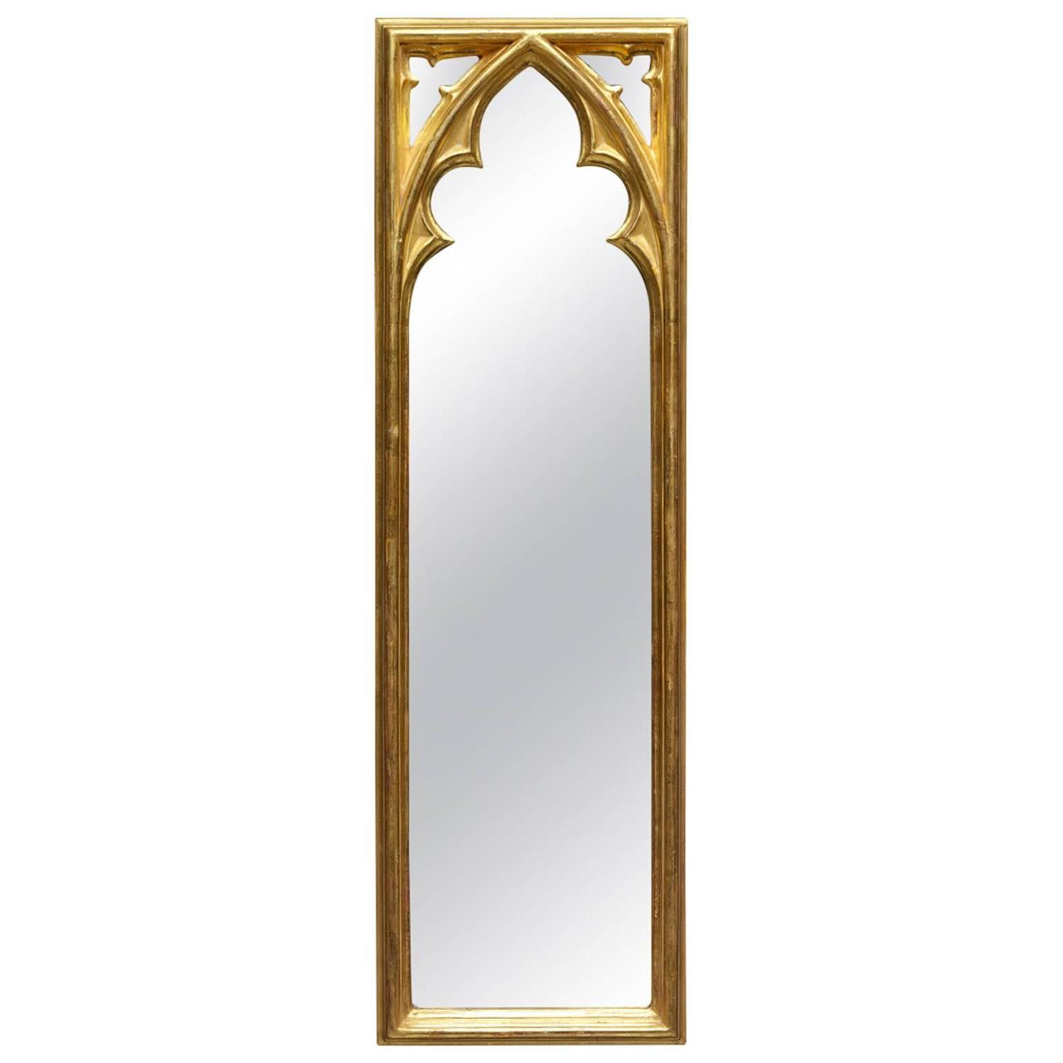 Gothic revival burl wood arched wall mirror at 1stdibs strawberry hill gothic pier mirror amipublicfo Gallery