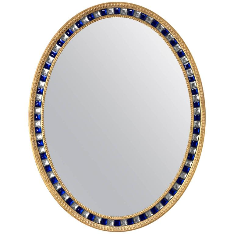Oval Mirror in the manner of Robert Adam