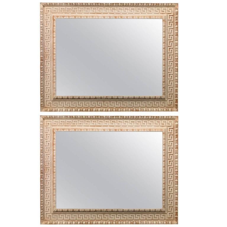 Greek Key Overmantel Mirrors in the Regency manner