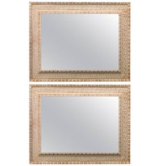 Greek Key Overmantel Mirrors in the Regency manner
