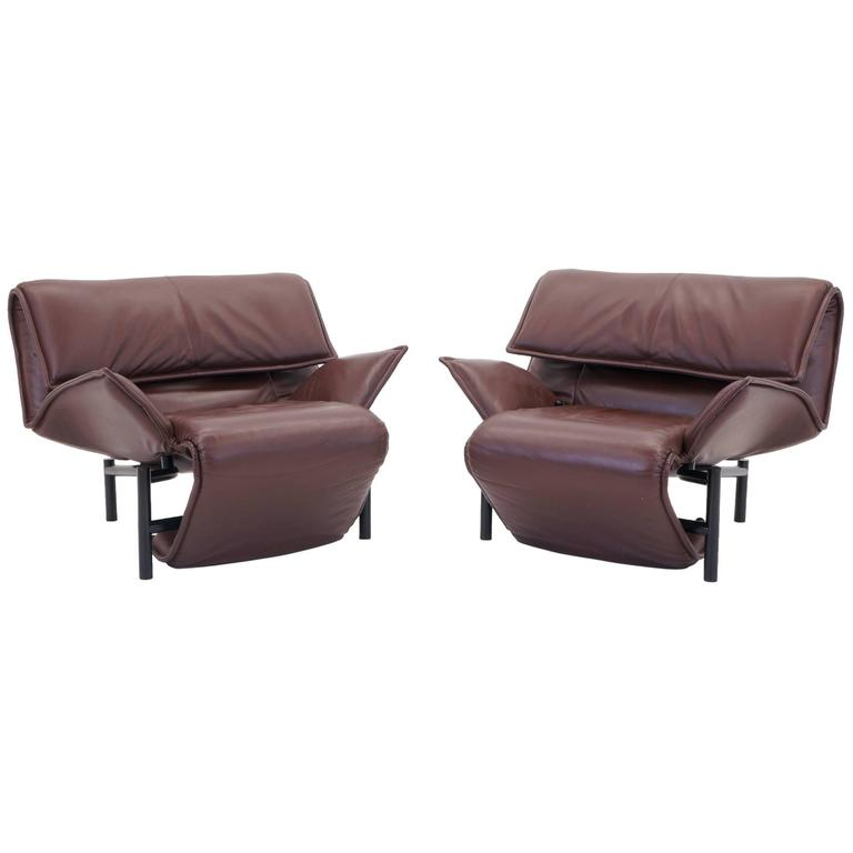 Pair of adjustable vico magistretti for cassina veranda for Cassina chaise lounge