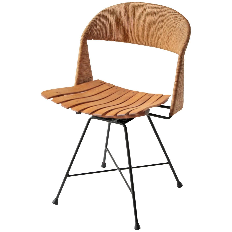 Arthur Umanoff Swivel Desk Chair Midcentury Minimalist At 1stdibs