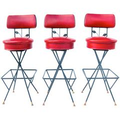 "Trio of ""Cherry-Licious"" Bar Stools"
