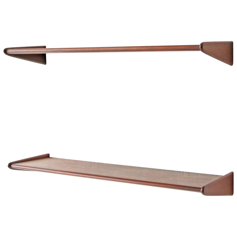 Pair Of Danish Modern Walnut Floating Shelves At 1stdibs